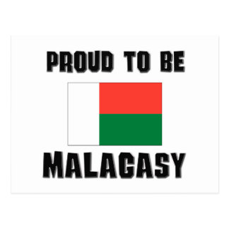 Proud To Be MALAGASY Postcard