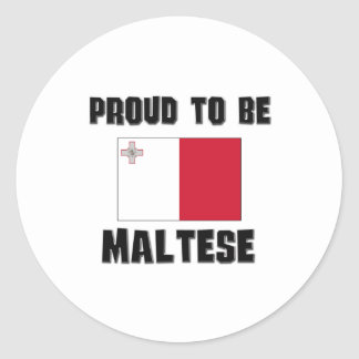 Proud To Be MALTESE Round Sticker