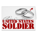 Proud to be married greeting card