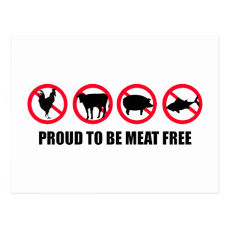 Proud to be Meat Free Postcard