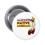 Proud To Be Native American Indian 6 Cm Round Badge