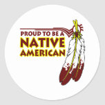 Proud To Be Native American Indian Stickers