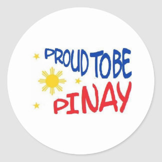 Proud to be Pinay Classic Round Sticker