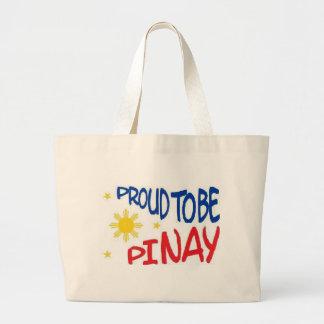 Proud to be Pinay Large Tote Bag