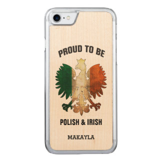 Proud to be Polish and Irish Carved iPhone 7 Case