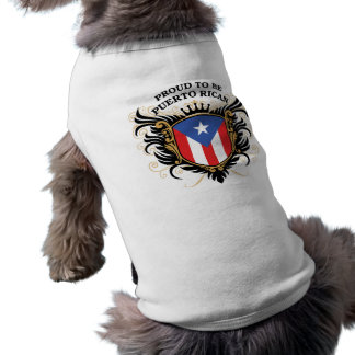Proud to be Puerto Rican Sleeveless Dog Shirt