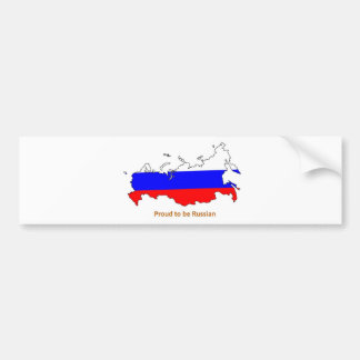 proud to be Russian Bumper Sticker