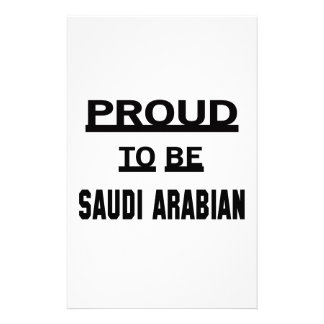 Proud to be Saudi Arabian Custom Stationery