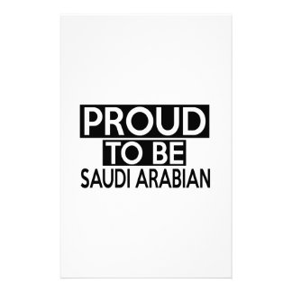 PROUD TO BE SAUDI ARABIAN PERSONALISED STATIONERY