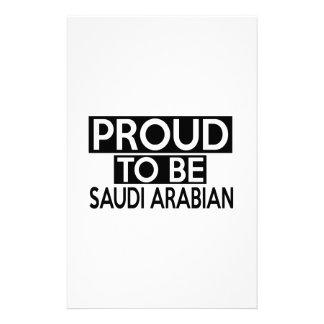 PROUD TO BE SAUDI ARABIAN PERSONALISED STATIONERY