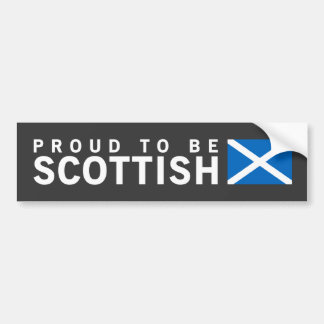 Proud to Be Scottish Design Bumper Stickers