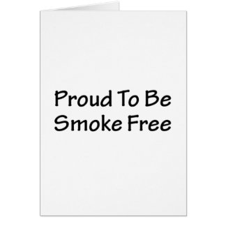 Proud to be smoke free card