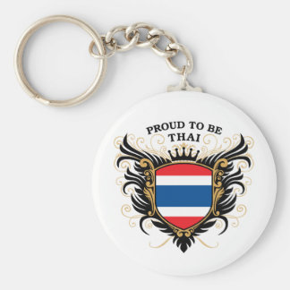 Proud to be Thai Basic Round Button Key Ring