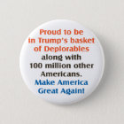 proud to be trump supporter 6 cm round badge
