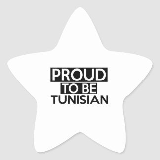 PROUD TO BE TUNISIAN STAR STICKER