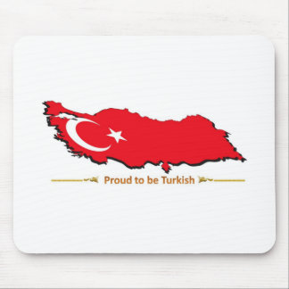 proud to be turkish 1 mouse pad