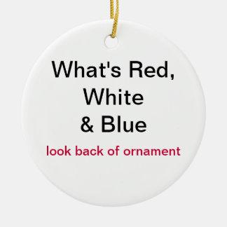 Proud To Be usa flag Christmas Ornament