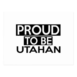 PROUD TO BE UTAHAN POSTCARD