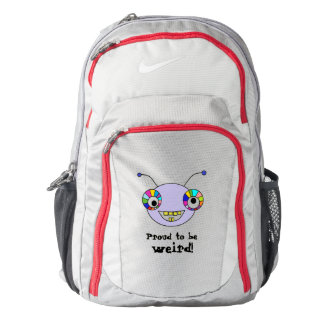 Proud to be weird Fun Smiley Alien Face Design Backpack