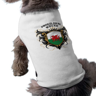 Proud to be Welsh Sleeveless Dog Shirt