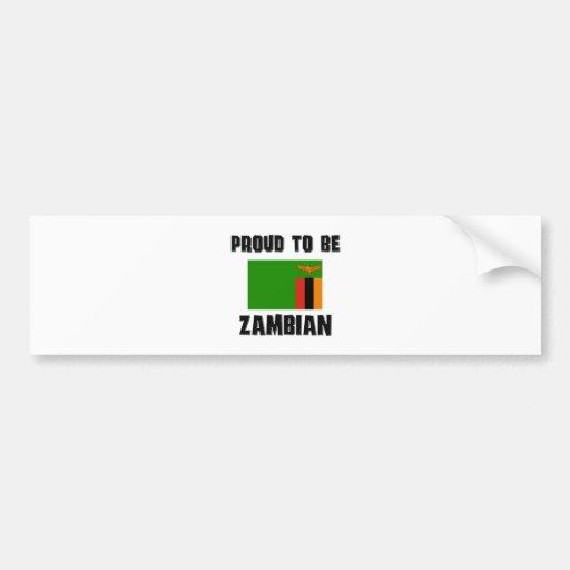 Proud To Be ZAMBIAN Bumper Stickers