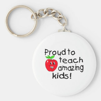 Proud To Teach Amazing Kids (Apple) Key Ring