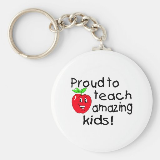 Proud To Teach Amazing Kids (Apple) Keychains