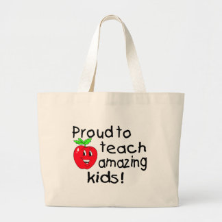 Proud To Teach Amazing Kids (Apple) Large Tote Bag