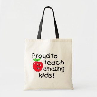 Proud To Teach Amazing Kids (Apple) Budget Tote Bag