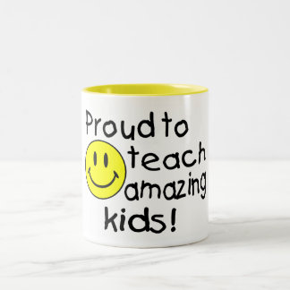 Proud To Teach Amazing Kids Two-Tone Mug