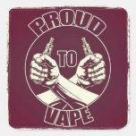 """Proud to Vape"" Sticker"