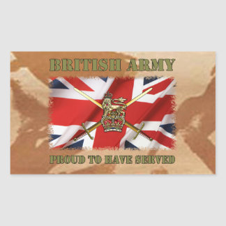 Proud ton have served ...... UK Rectangular Sticker