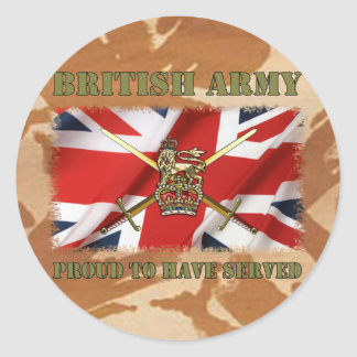 Proud ton have served ...... UK Round Sticker