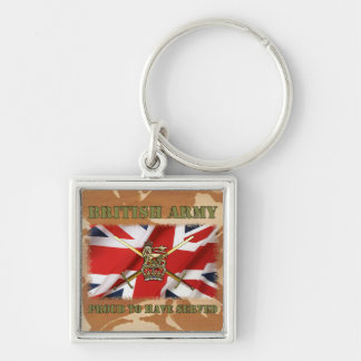 Proud ton have served ...... UK Silver-Colored Square Key Ring