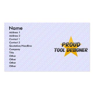 Proud Tool Designer Business Card Template