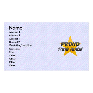 Proud Tour Guide Business Card Templates