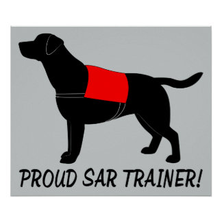 Proud Trainer: Search and Rescue Golden Retriever Poster