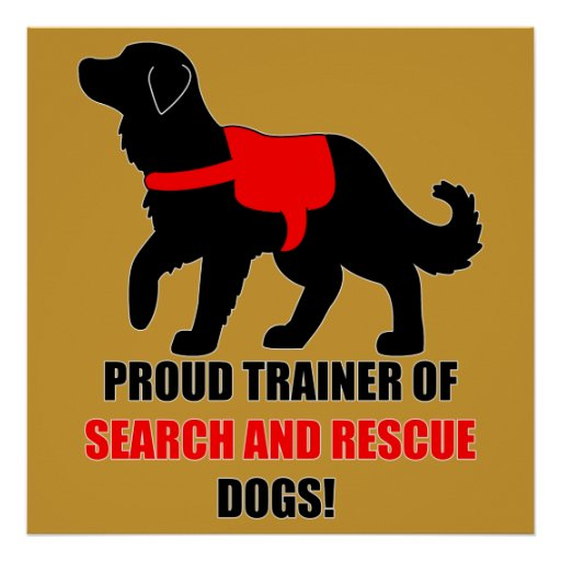 Proud Trainer: Search and Rescue Golden Retriever Print