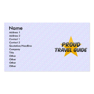 Proud Travel Guide Business Card