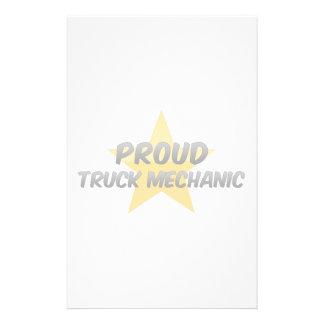 Proud Truck Mechanic Customized Stationery