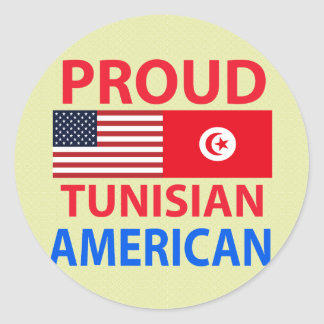 Proud Tunisian American Round Stickers