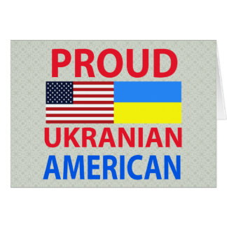 Proud Ukranian American Greeting Card