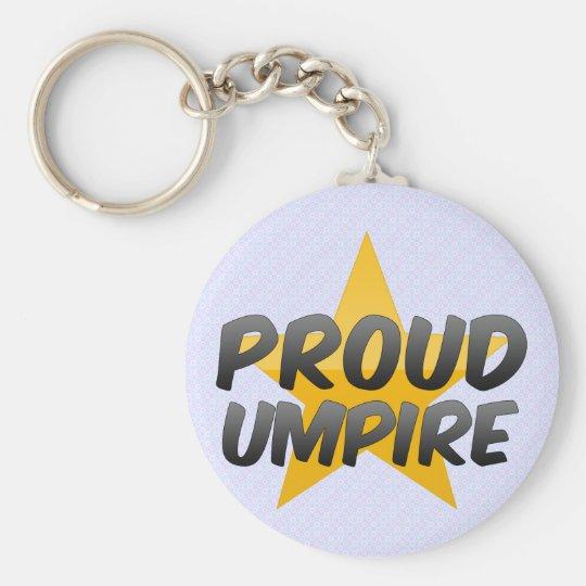 Proud Umpire Basic Round Button Key Ring