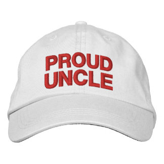 PROUD UNCLE A01 RED Embroidery Embroidered Baseball Cap