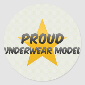 Proud Underwear Model Round Sticker