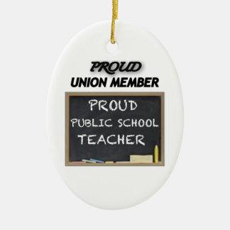 PROUD UNION TEACHER CHRISTMAS TREE ORNAMENT