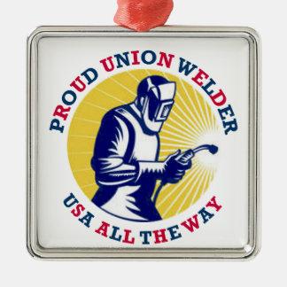 Proud Union Welder USA Christmas Ornament