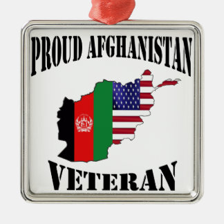 Proud US Afghanistan veteran Christmas Ornament