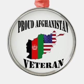 Proud US Afghanistan veteran Christmas Ornament
