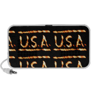 Proud USA Gold Feel Confident Display Commitment iPhone Speaker
